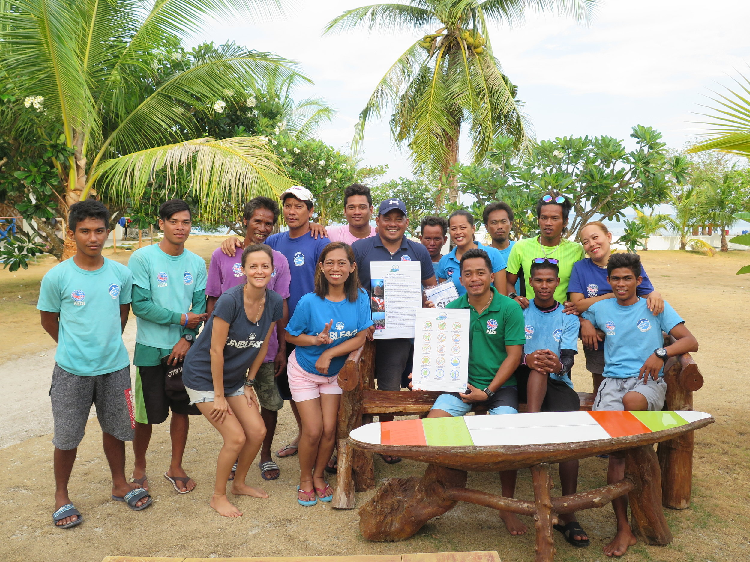 A dive school in Malapascua celebrates following its latest Green Fins assessment