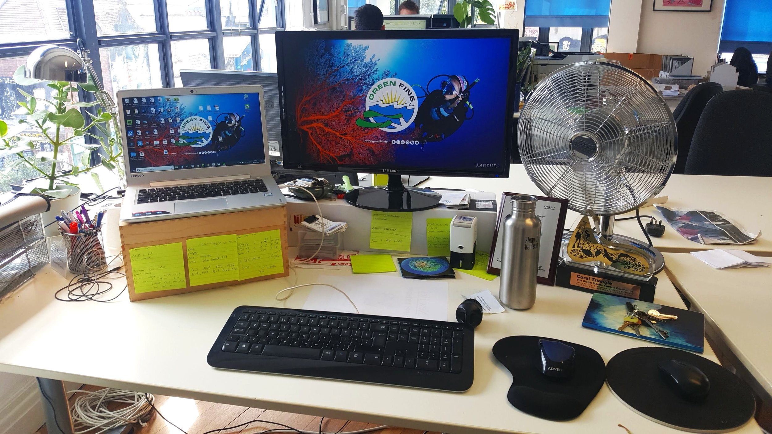 The desk.. inspiring stuff!