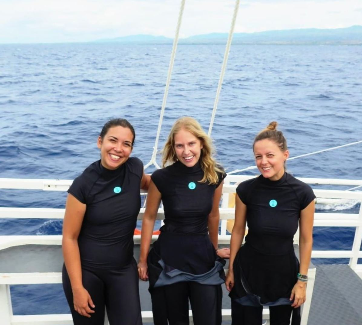 Sam, Mel and Jula from the Reef-World team