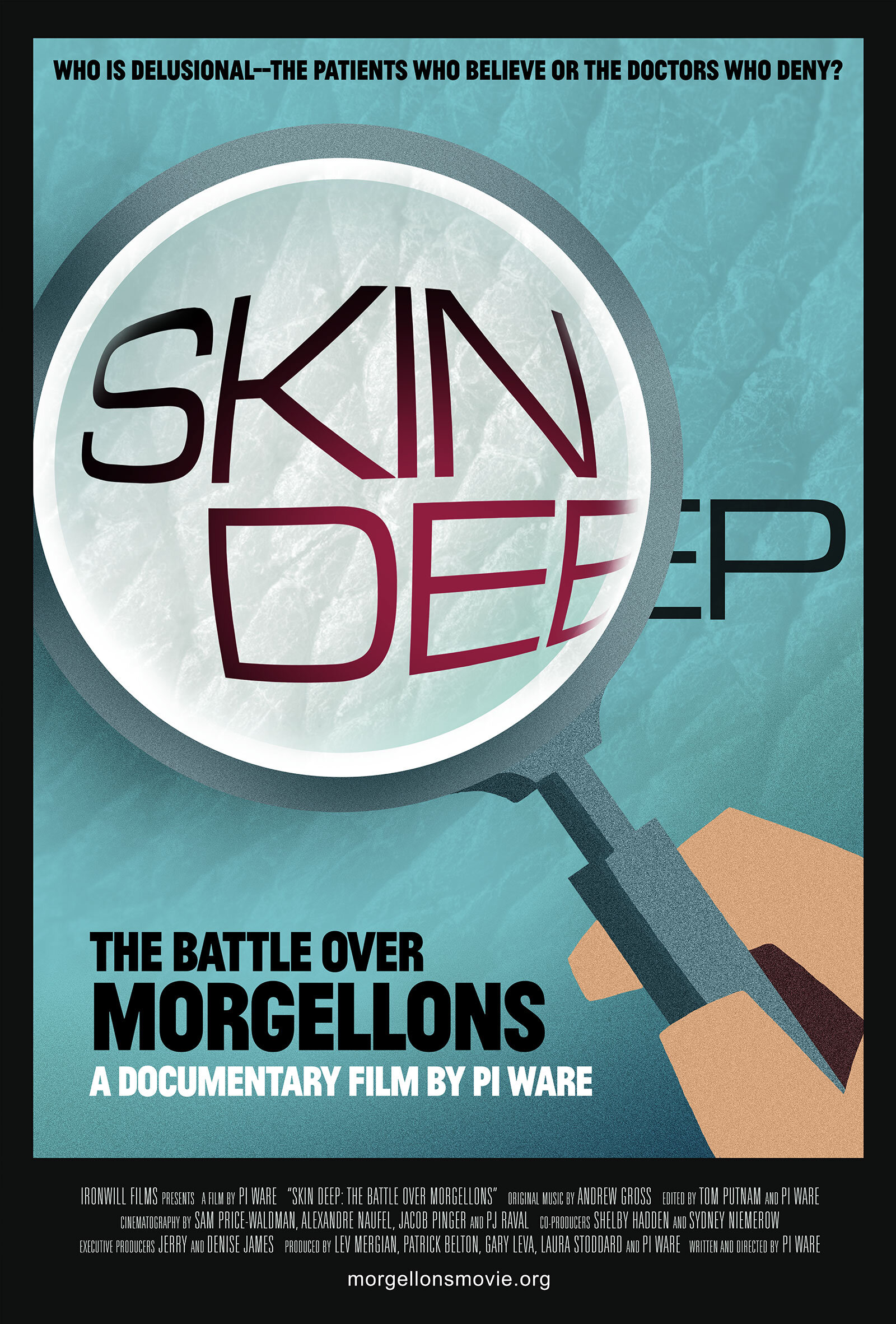The new Skin Deep movie poster designed by Sam Smith.