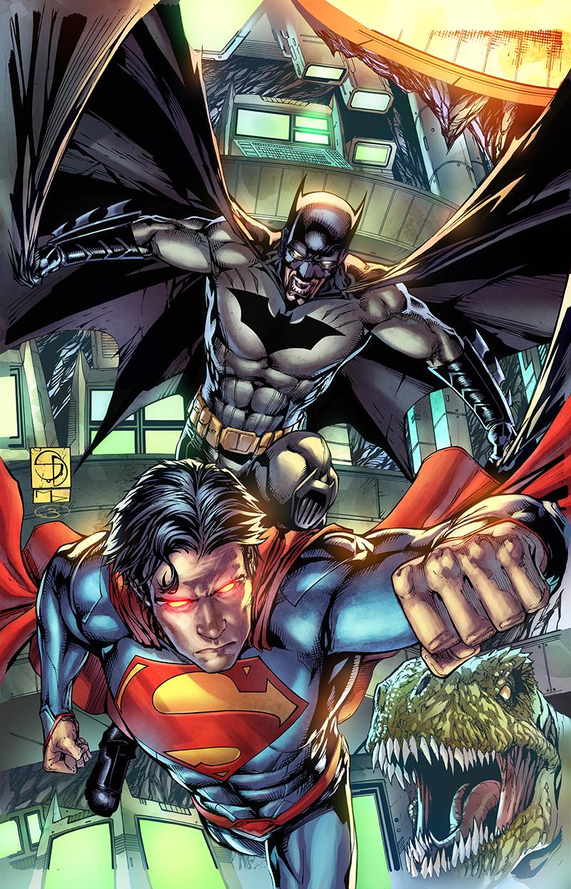 "Variant Cover  ""Batman Superman"" #12  Pencil: Shane Davis  Ink: Michelle Delecki  Colors: Barbara Ciardo  DC COMICS"