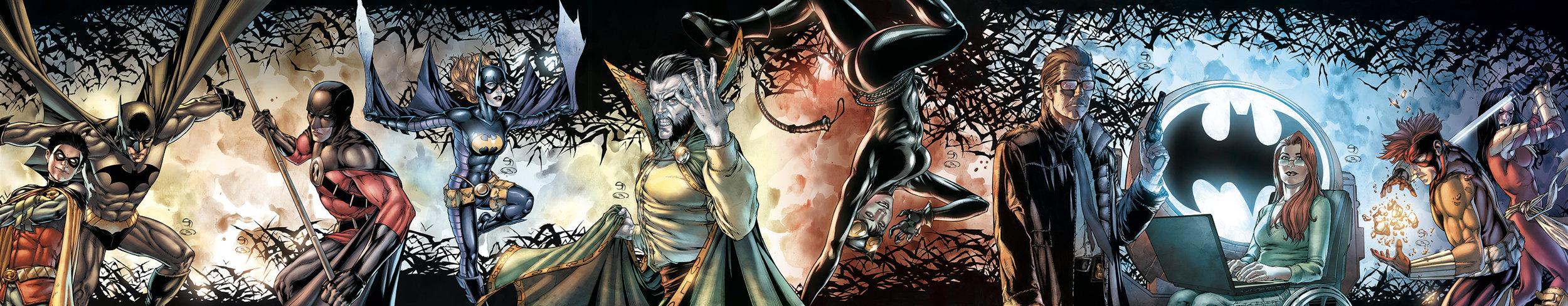 "Covers  ""Bruce Wayne: The Road Home""  Pencil and ink: Shane Davis  Colors: Barbara Ciardo  DC COMICS"