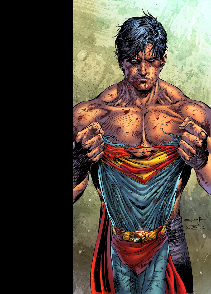 "Cover  ""Superman: Earth One"" vol.3  Pencil: Ardian Syaf  Ink: Sandra Hope  Colors: Barbara Ciardo  Publisher: DC COMICS"