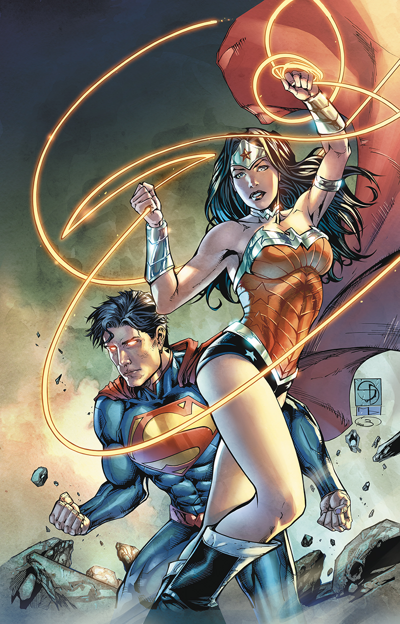 "Variant Cover  ""Superman/Wonder Woman"" #2  Pencil: Shane Davis  Ink: Michelle Delecki  Colors: Barbara Ciardo  DC COMICS"