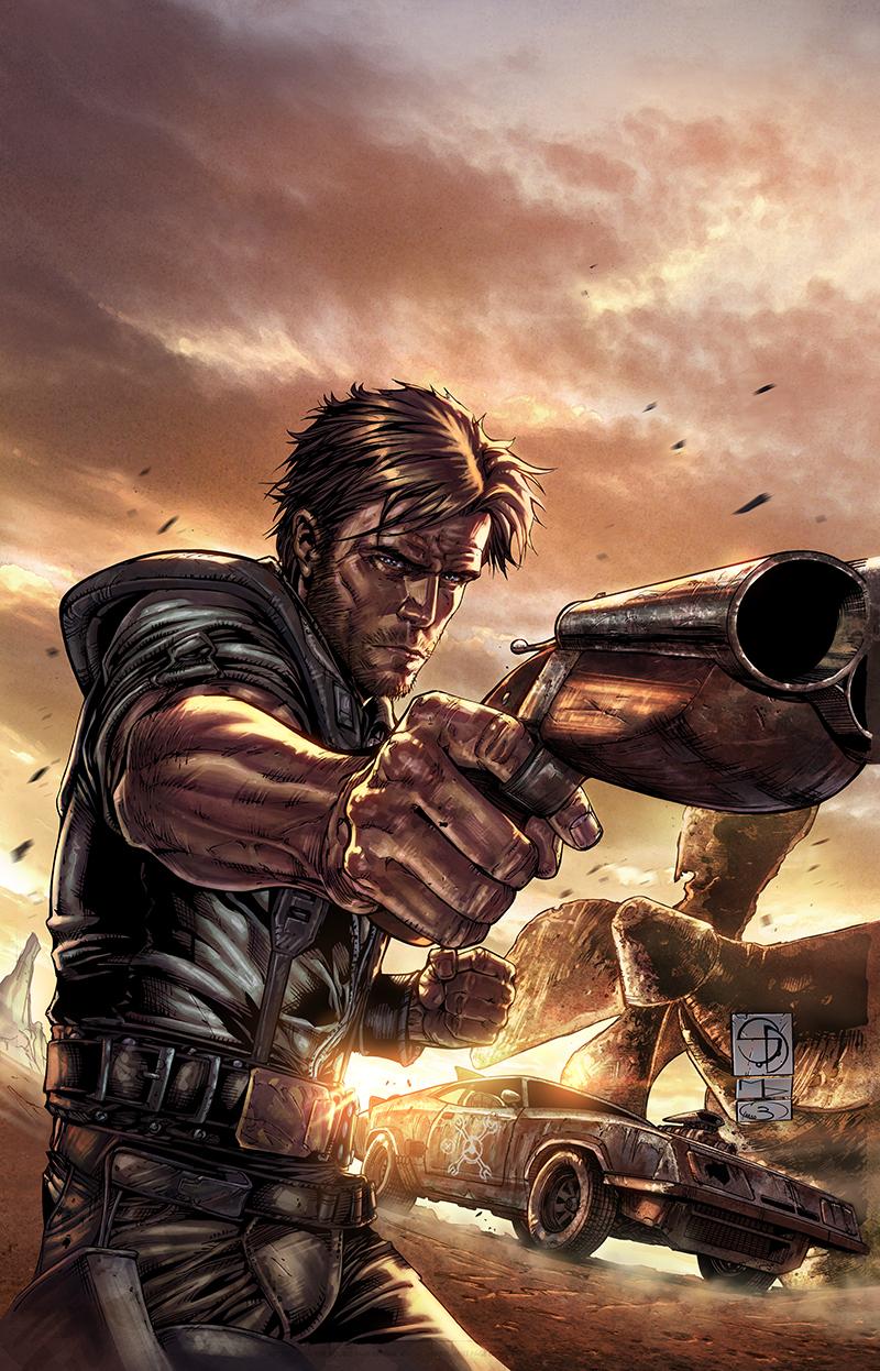 "Promo image  ""Mad Max""  Pencil: Shane Davis  Ink: Michelle Delecki  Colors: Barbara Ciardo  WARNER BROS"