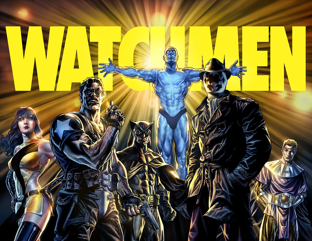 "Promo image  ""Before Watchmen""  Pencil and inkwash: Lee Bermejo  Colors: Barbara Ciardo  Publisher: DC COMICS"