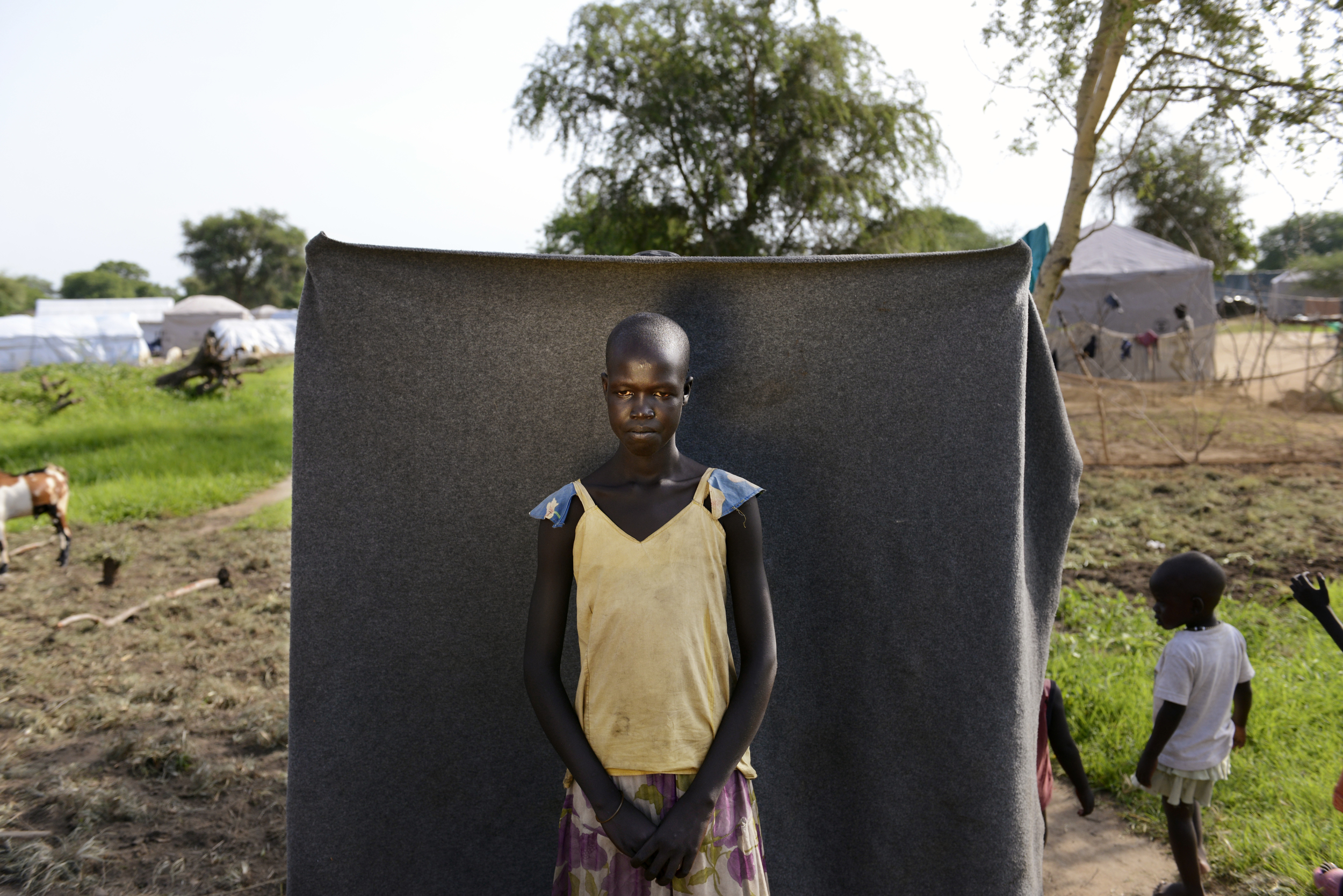 South Sudan, Minkaman Camp, nr Bor
