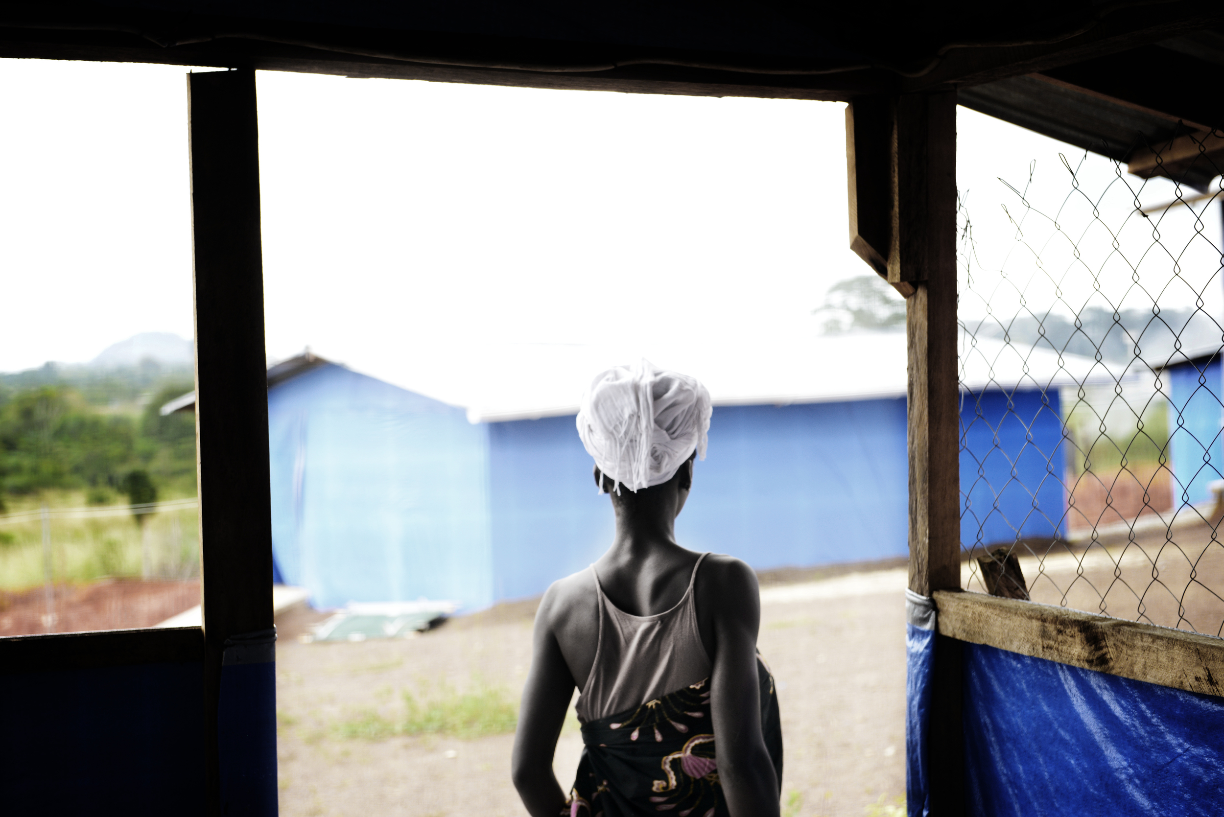 Liberia, Ebola Treatment Unit in Bong.