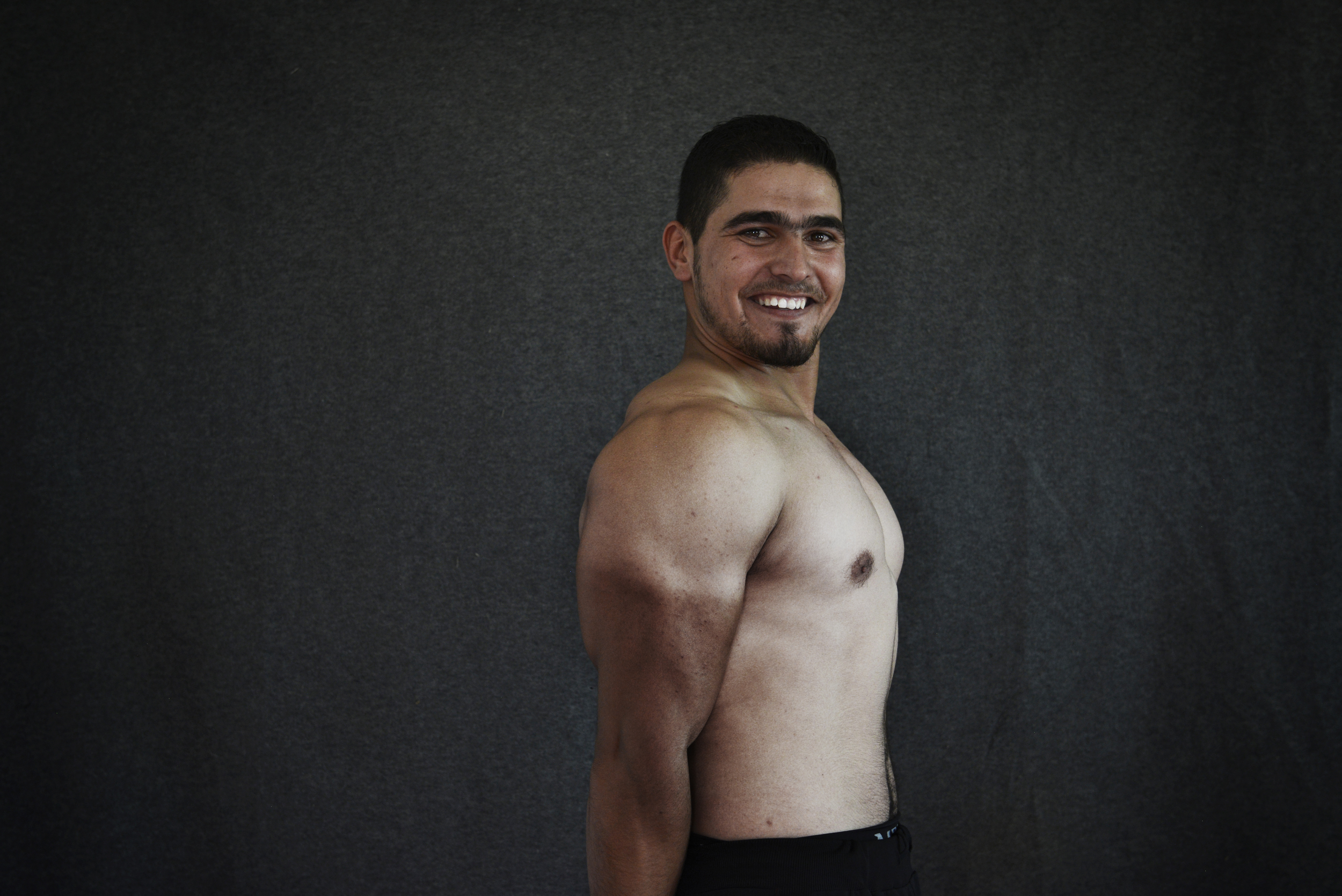 Ali, Zaatari Gym, Jordan, 2015