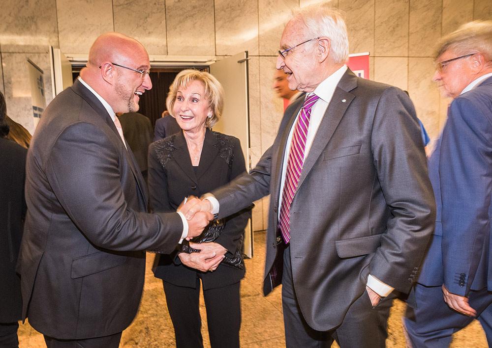 Andreas Schrobback mit Herrn Dr. Edmund Stoiber und Frau Karin Stoiber