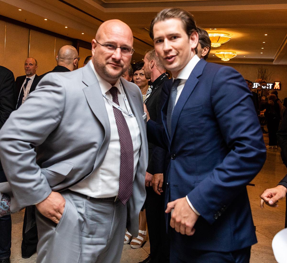 Andreas Schrobback mit Sebastian Kurz