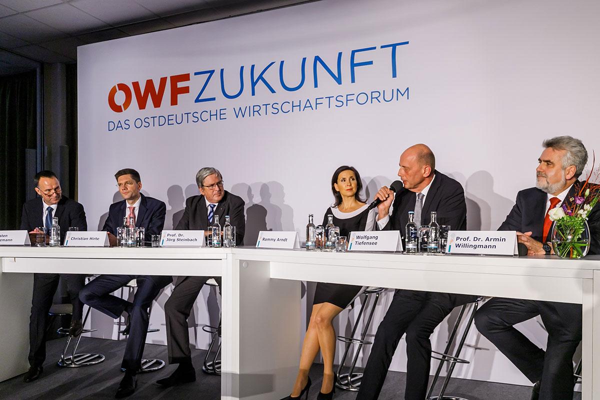 Carsten Hinzmann, Christian Hirte, Prof. Dr. Jörg Steinbach, Rommy Arndt, Wolfgang Tiefensee, Prof. Dr. Arnim Willingmann
