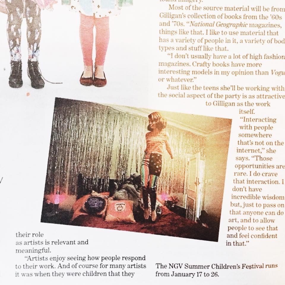 Started the year off with a bang by having an image I took of  Minna Gilligan  published in The Age!