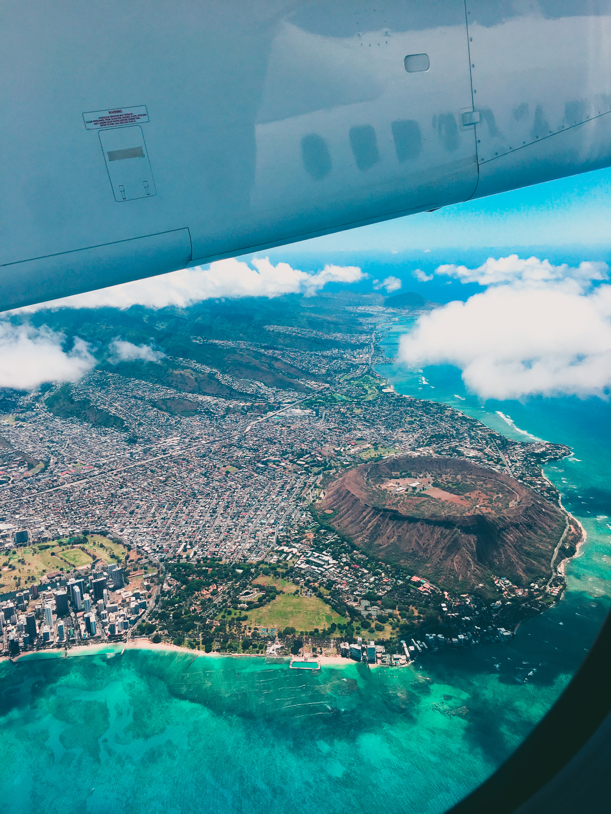 Flying over Waikiki and Diamond Head is quite the spectacle.