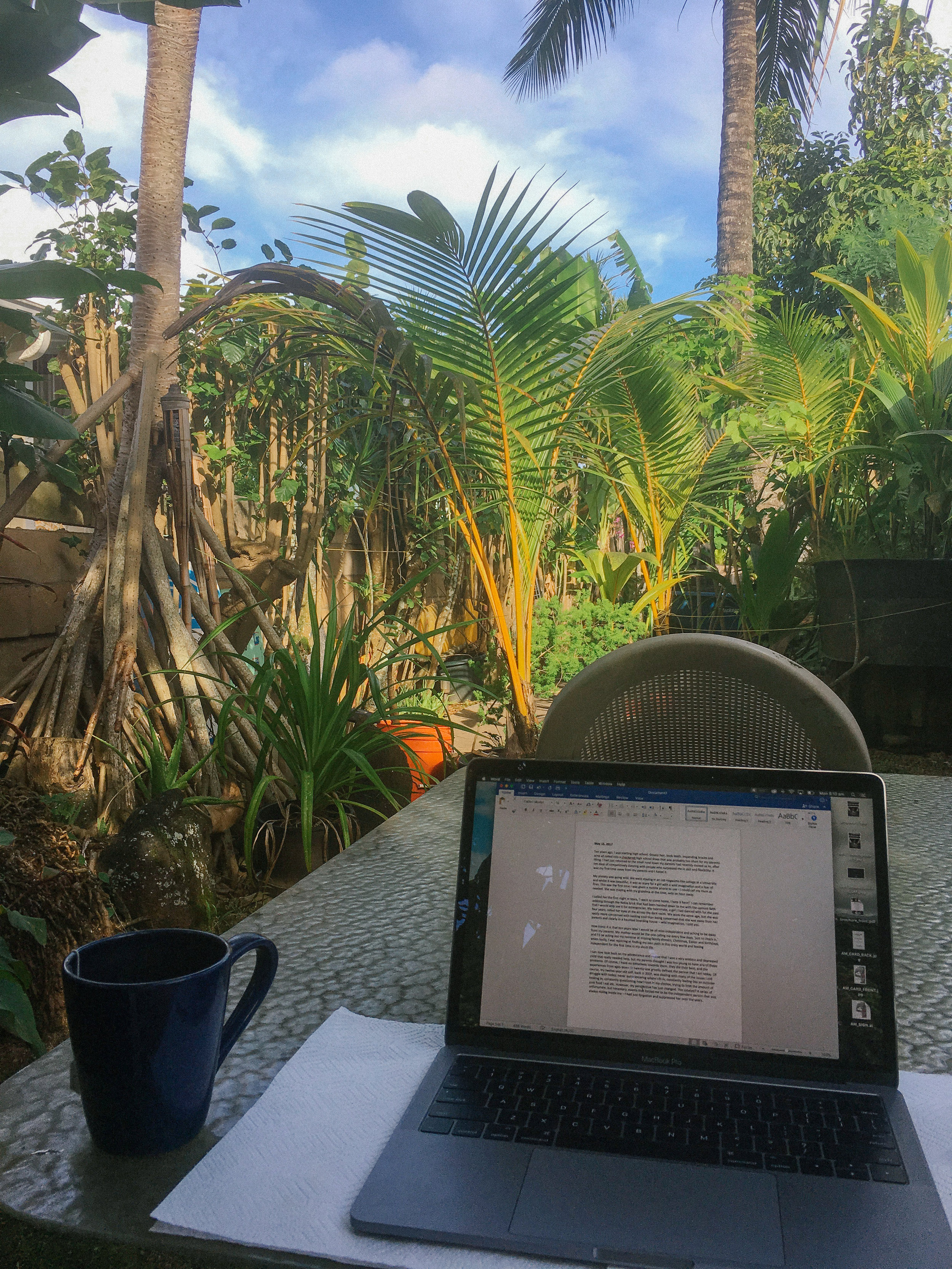 My office whilst living on the North Shore, O'ahu
