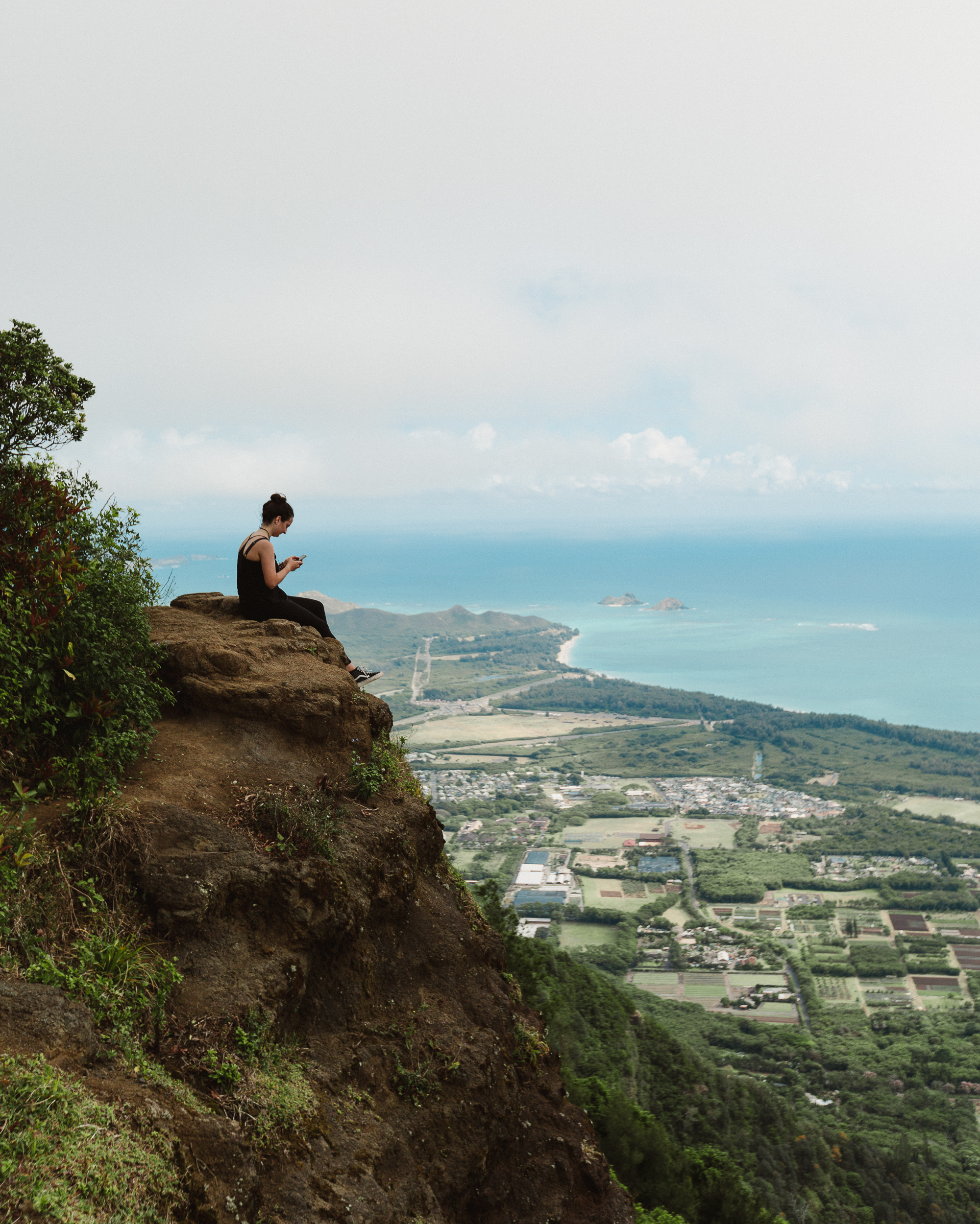 The view from the top of the trail looking toward Lanikai.