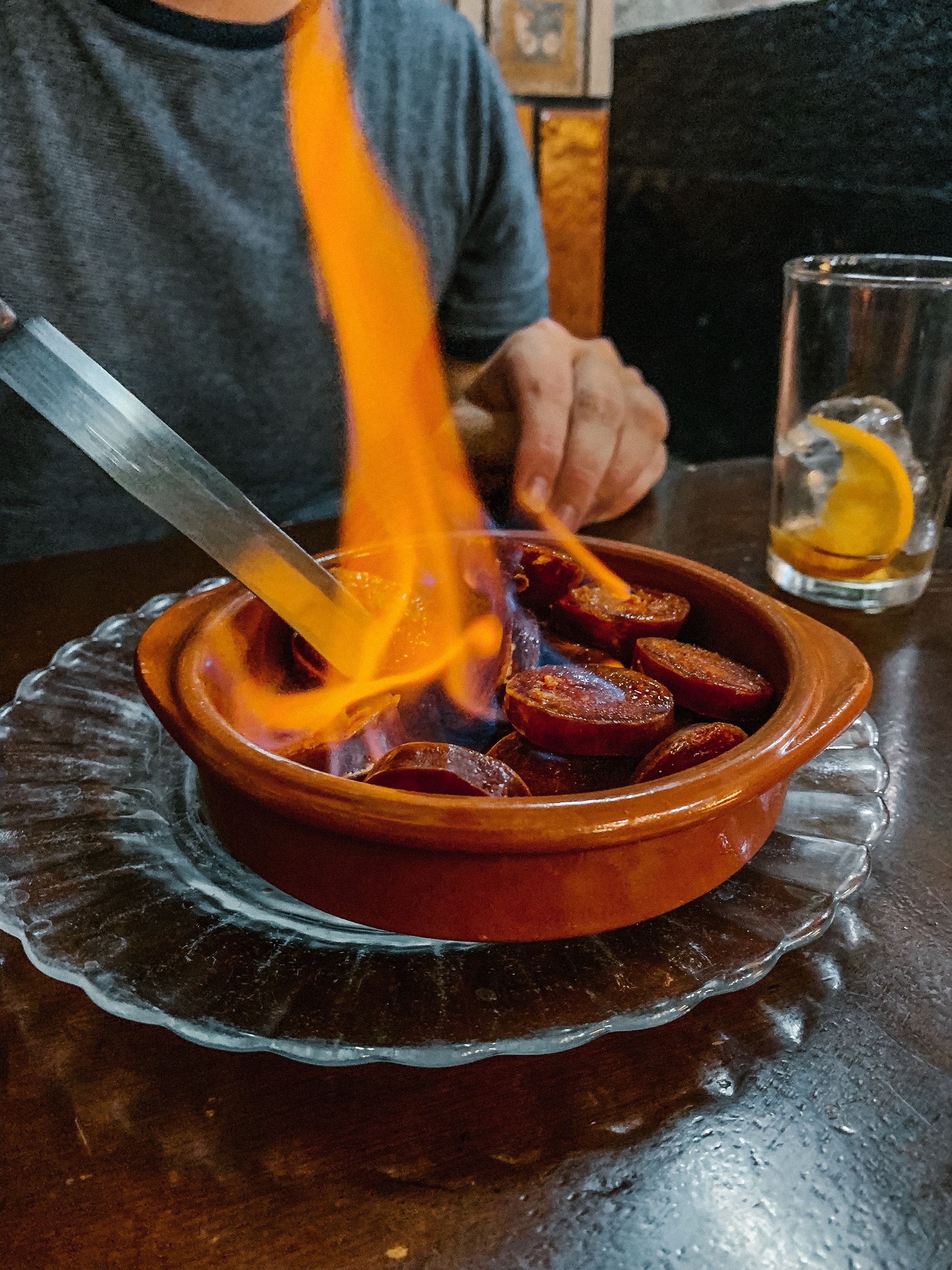 The only way to improve chorizo is to set it on fire.