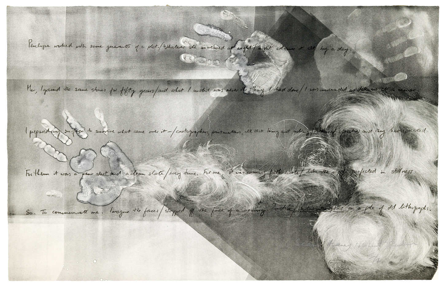 """22""""x31"""" ink and monotype"""