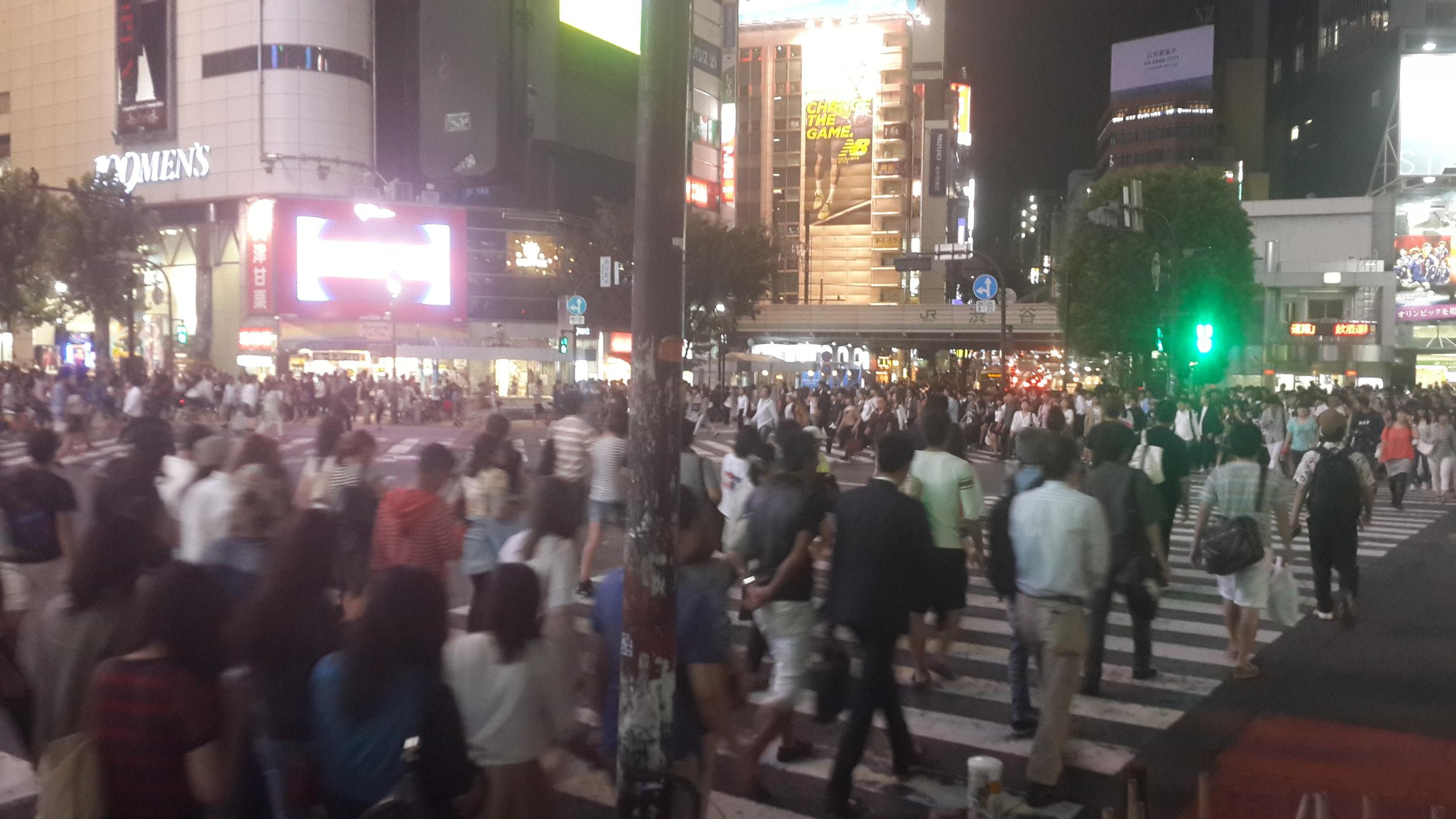 Shibuya, world's largest pedestrian crossing