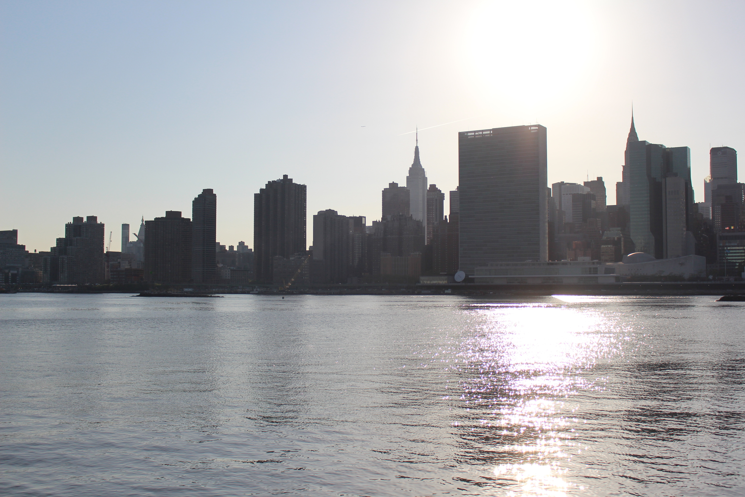 Manhattan view from Long Island City waterfront