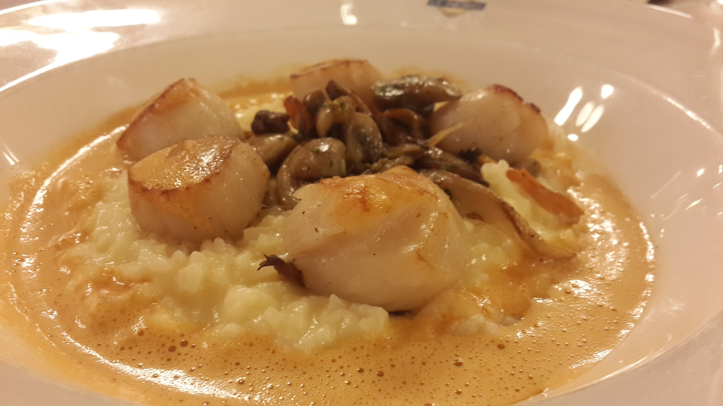 Scallop risotto with mushrooms @ Le Nord