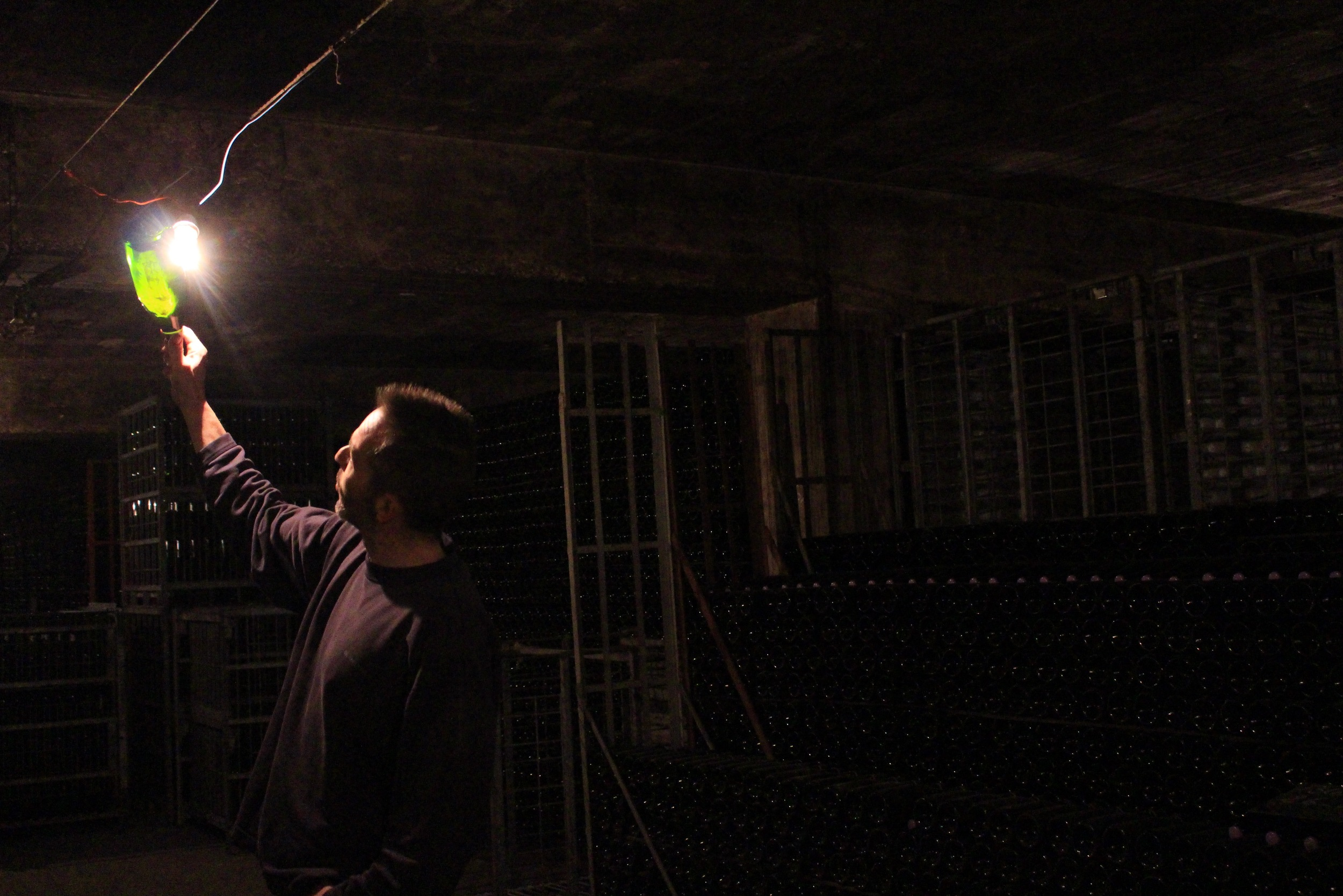 Champagne cellar tour at Charbaux Freres, Congy, France