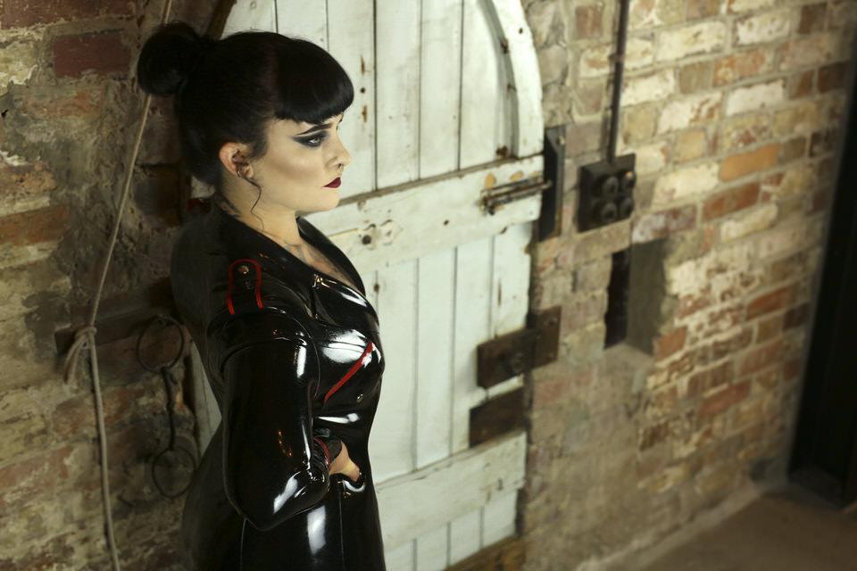 miss tallula latex military dress beatdown take down punching slapping pain control latex