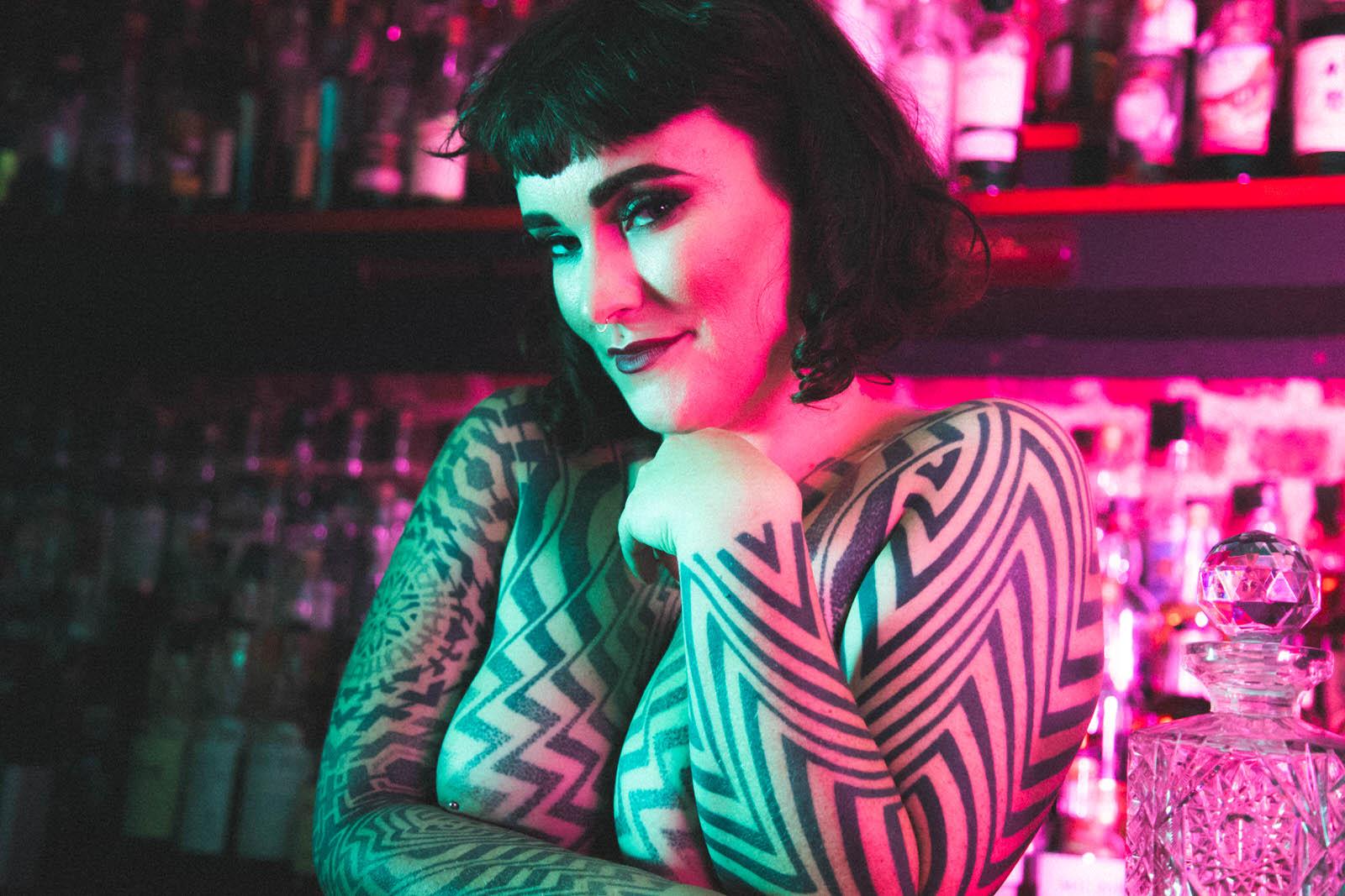 miss tallula nudist, naturalist, naked whisky date, naked dominatrix, tattooed dominatrix, alternative model