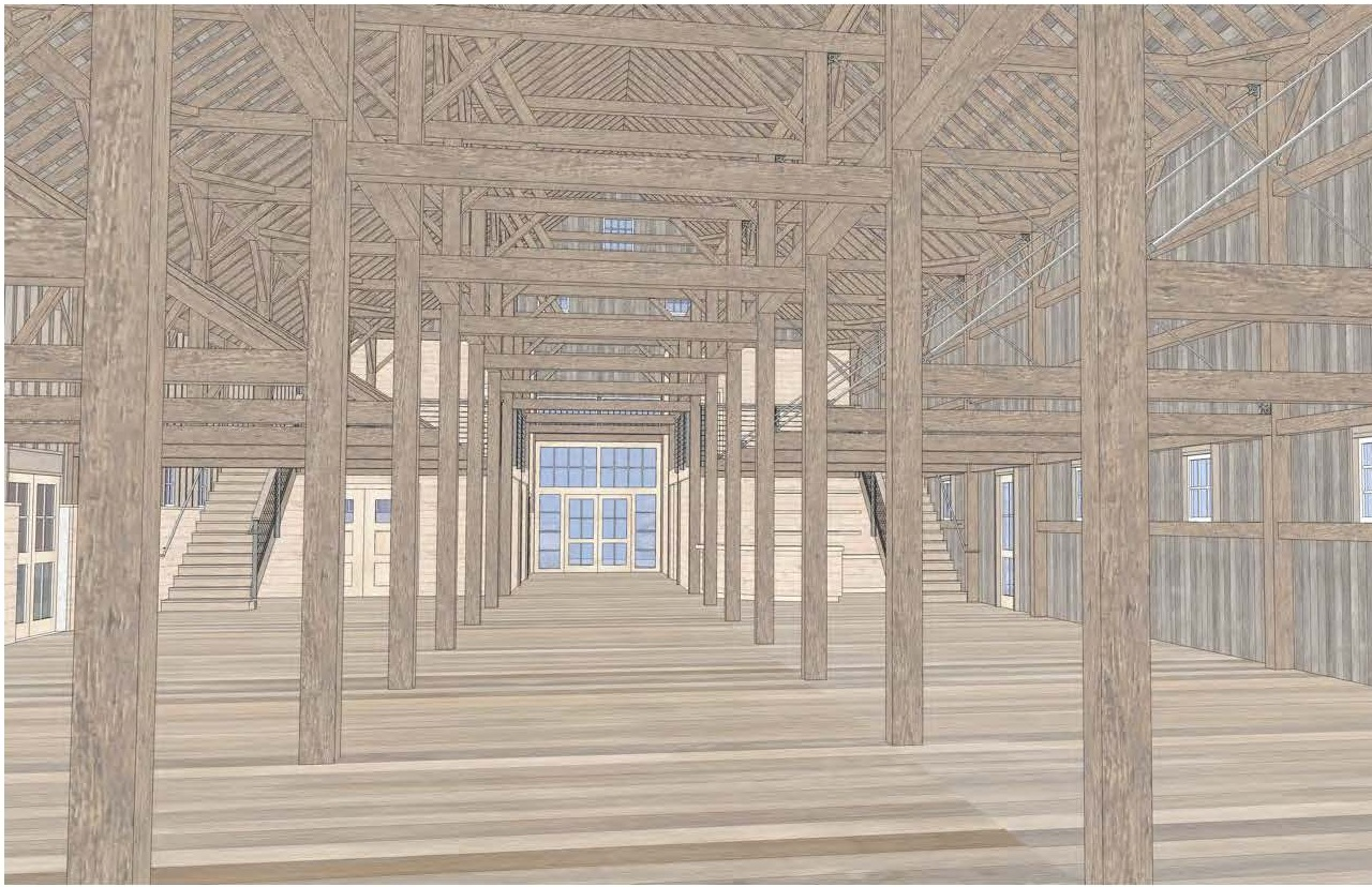 A restored North Barn will be a venue for a wide array of community gatherings.