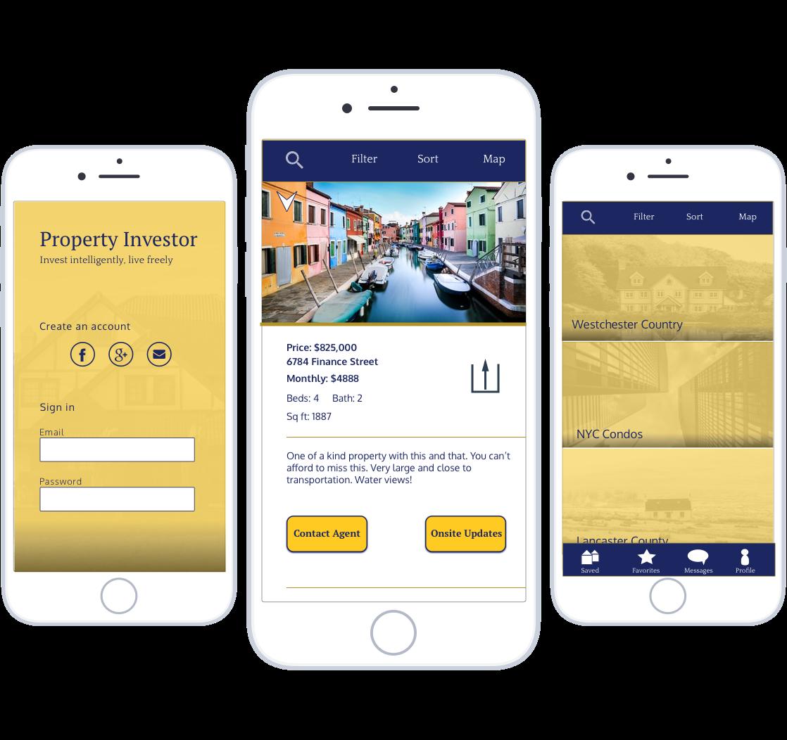 Mobile UI Design: Real Estate App -