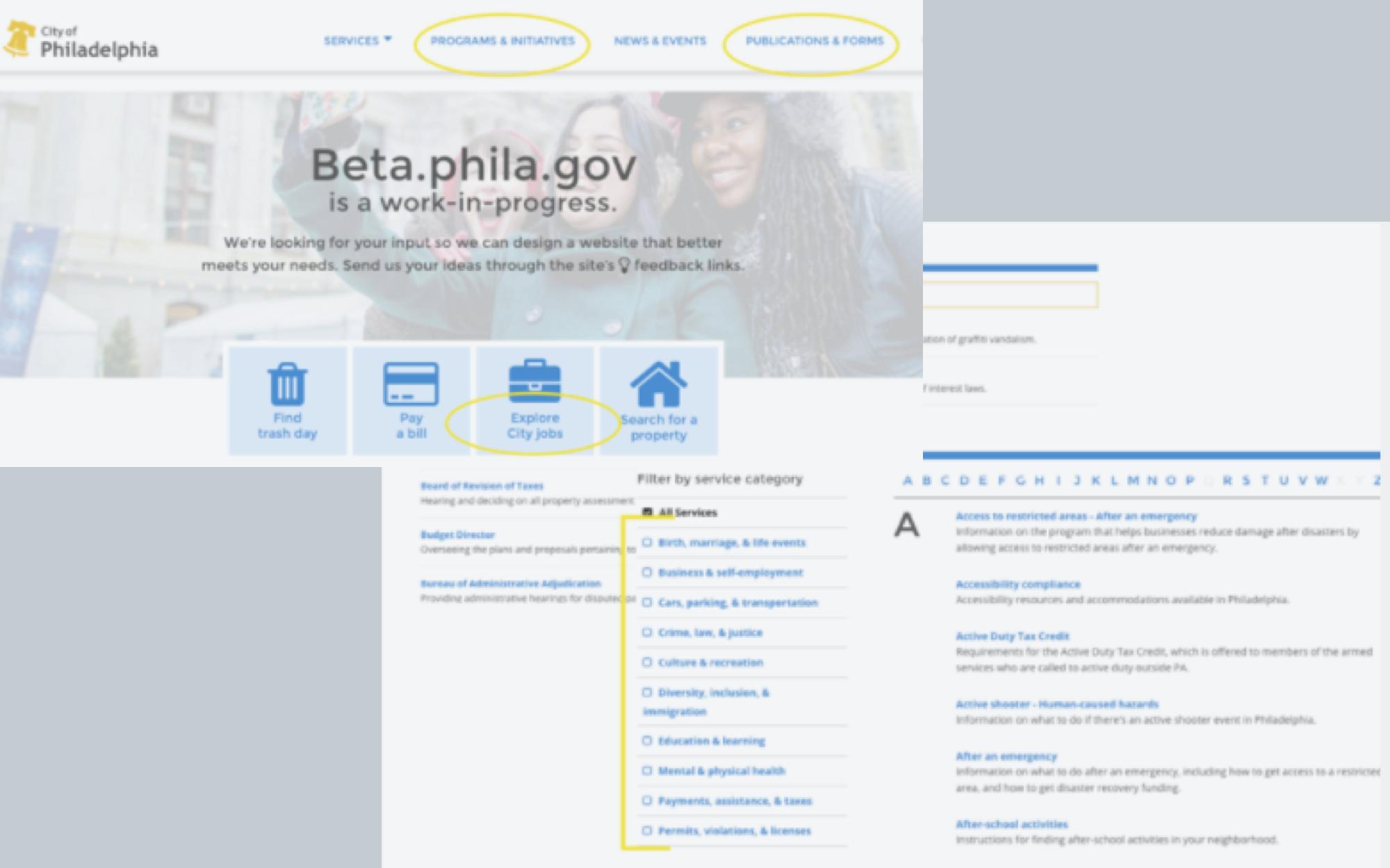 Inclusive Design: Phila.gov for all -