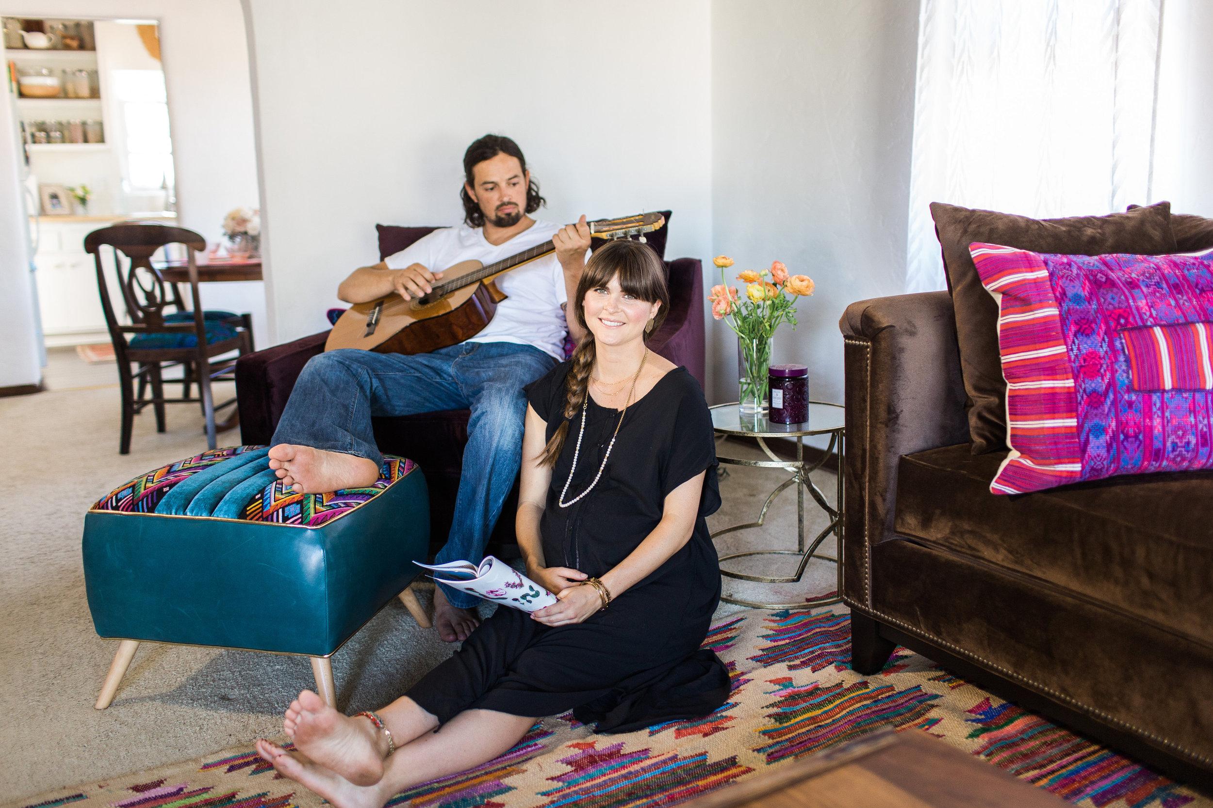 Lindsey and Luke in Living room