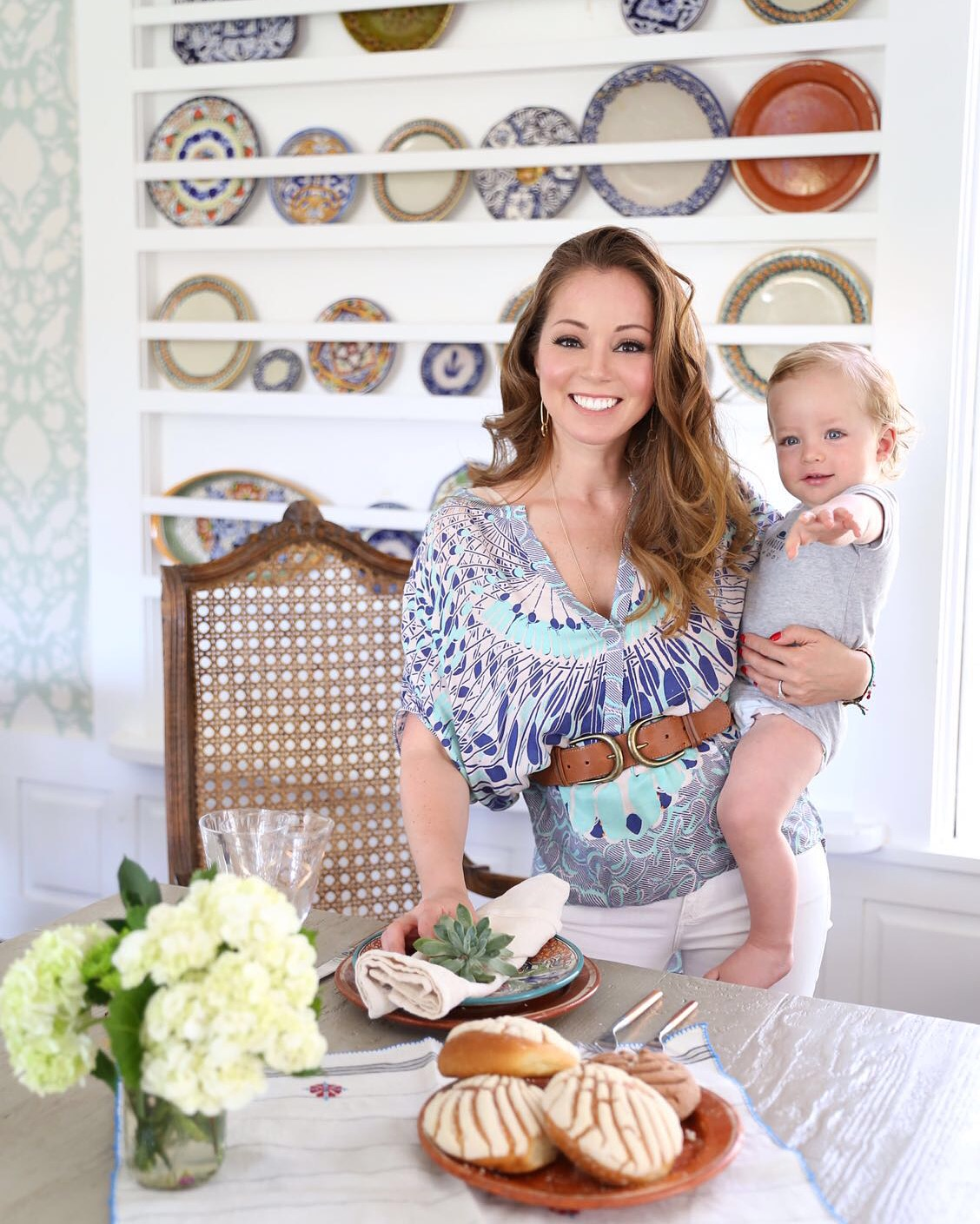Chef Marcela Valladolid and Her son David