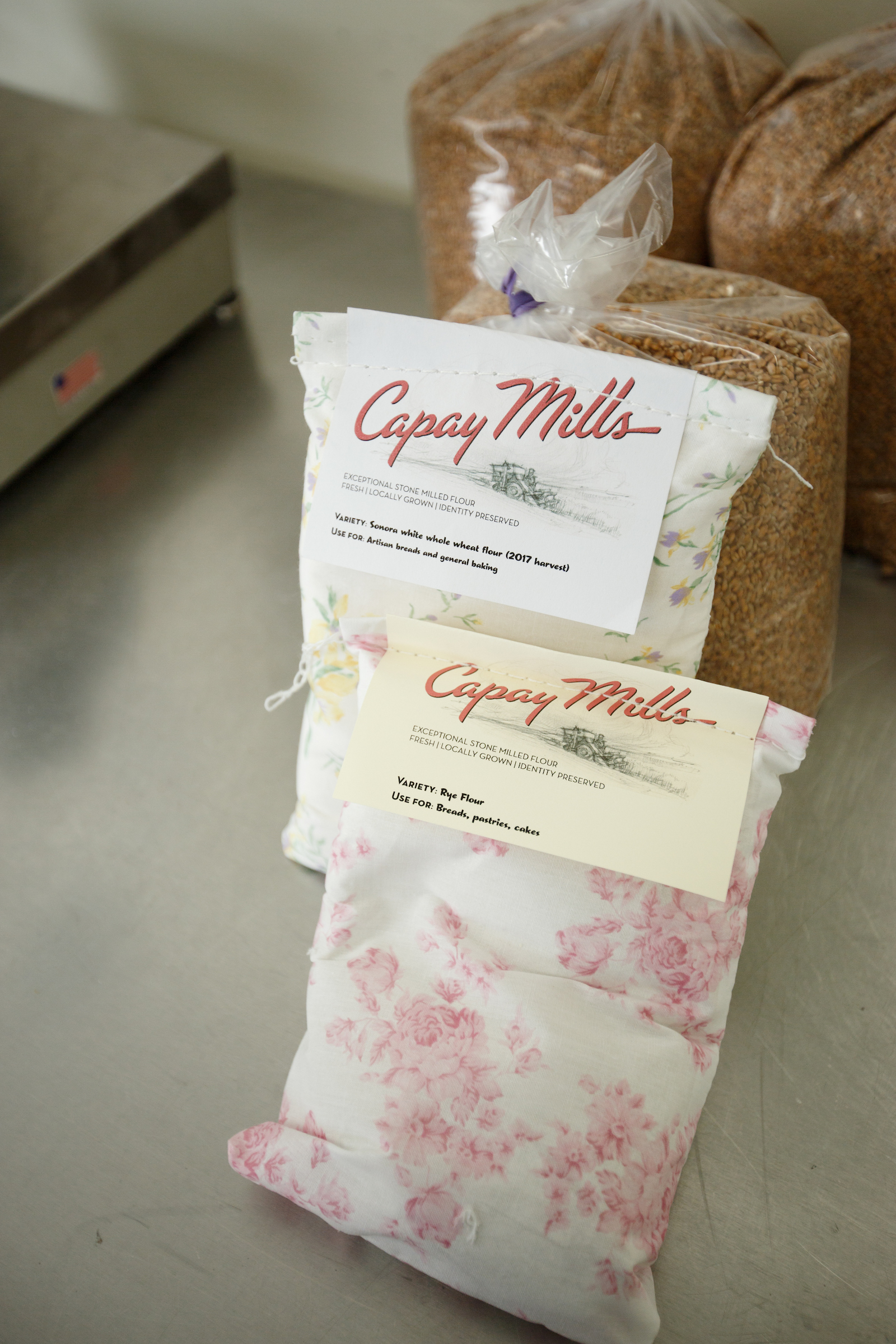 capay mills whole grain flour heritage flour farmers market northern ca