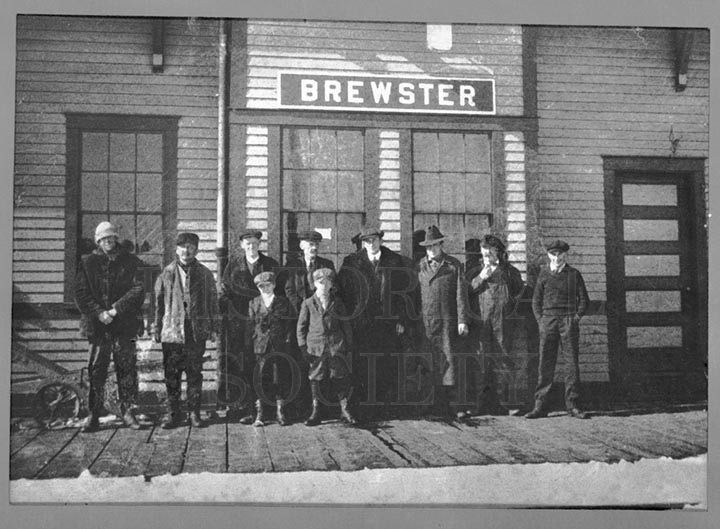 24. 1970.10.229  Waiting for the Mail at Brewster Railroad Station c.1900 -- photographer unknown