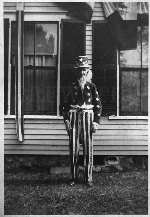 34. 1970.10.264 John Ryder, Dressed As Uncle Sam c.1900 – photographer unknown
