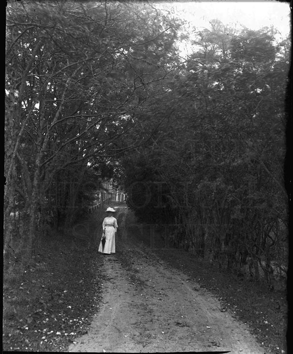 46. 1970.10.T838 East Driveway and Nell Peterson c.1900 – photographer Caro A. Dugan