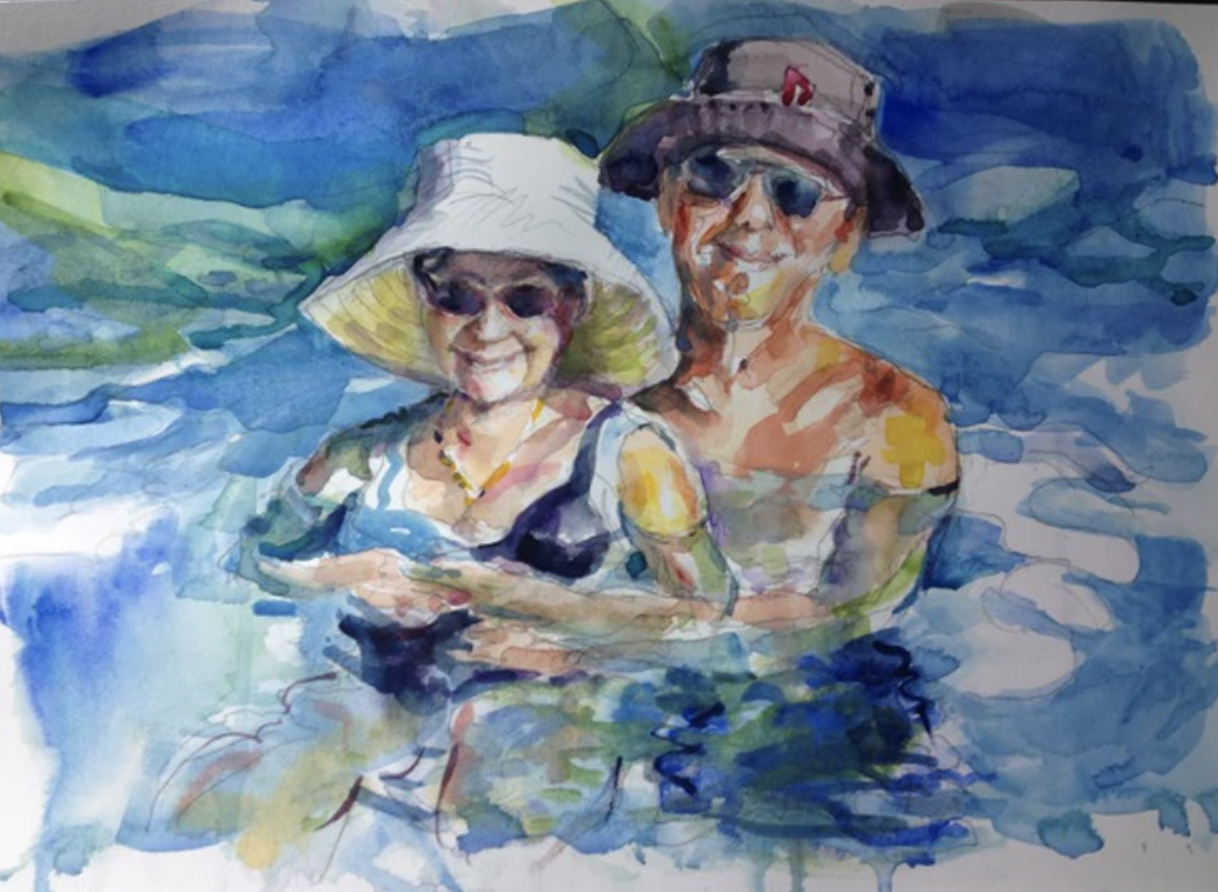 Commissioned Watercolor Painting by Janis Boldenow