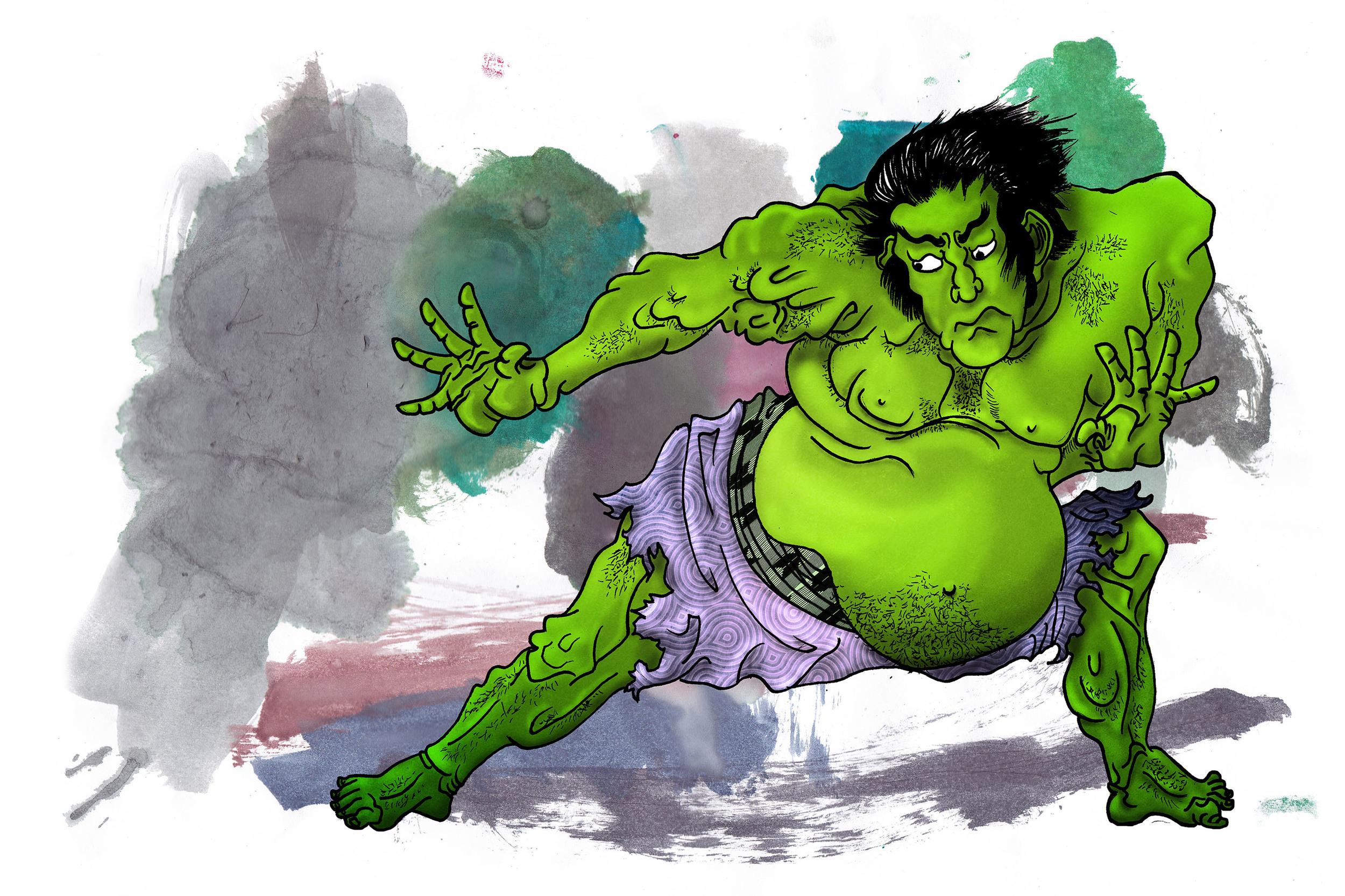 GAAMvengers - 2015 - Ukiyo-e Hulk - ©ElenaØhlander