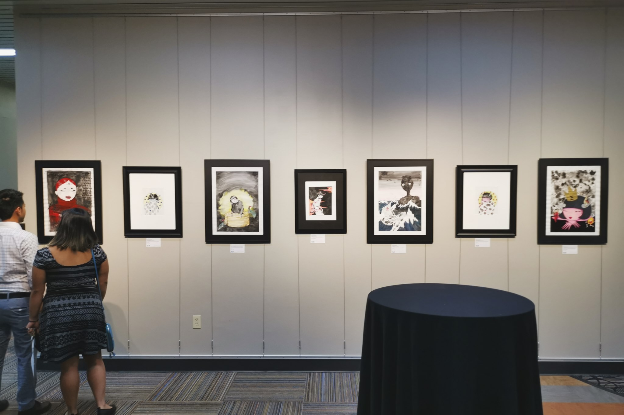 Series of work on display from Nippon no Mukashi Banashi (Old Folk Tales from Japan) - Photo Credit: Jeffrey Enriquez