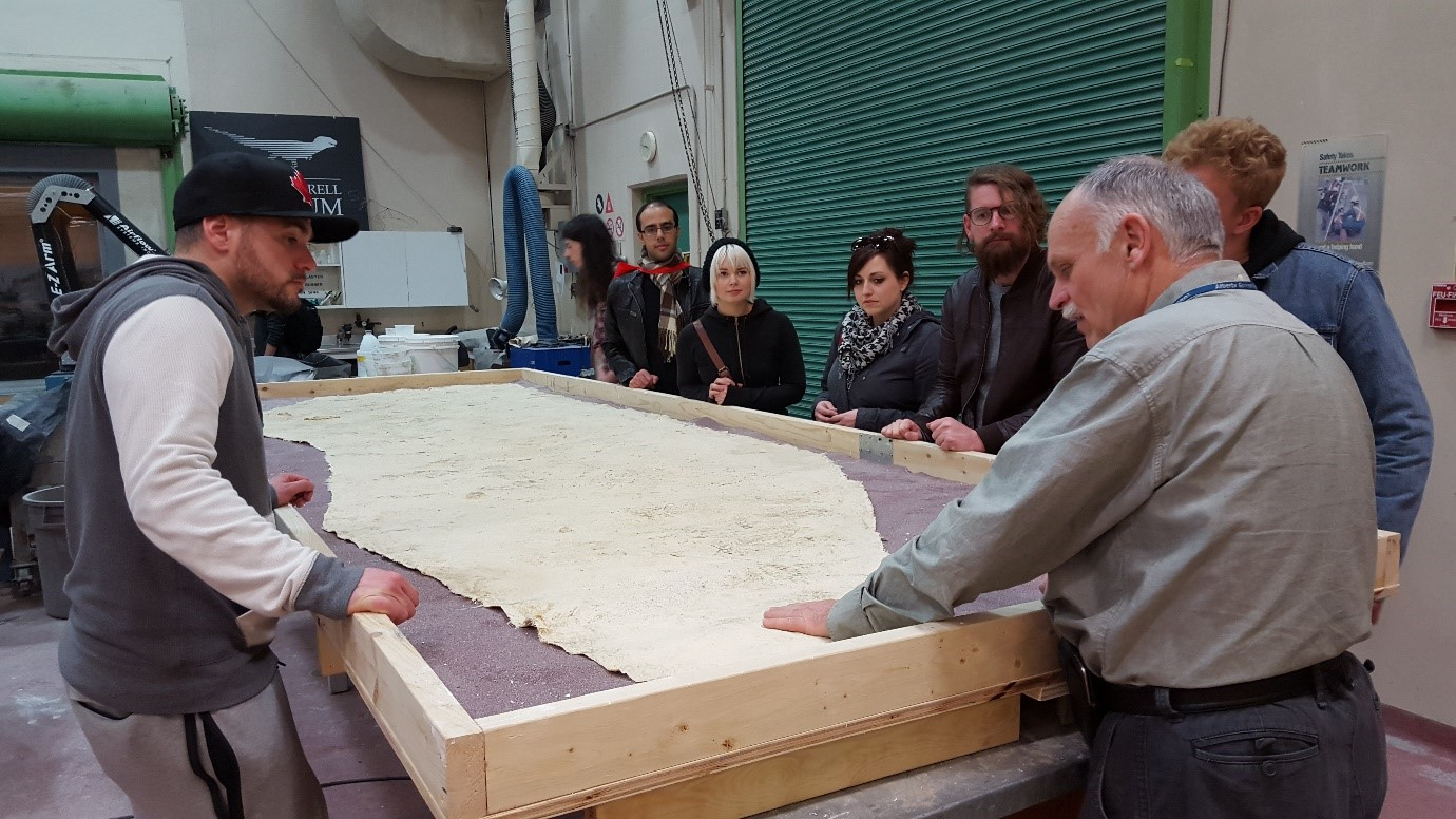 Don Brinkman explains said trackways, found by a team including Ben Borkovic, of Extinct  fame !