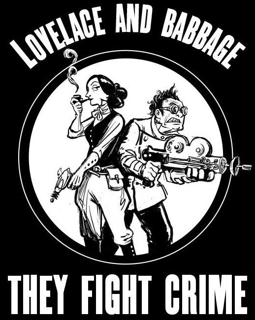 Ada Lovelace and Charles Babbage from Padua's pocket universe...