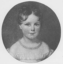 Ada Lovelace at age four, teetering on the brink of a life of mathematics or poetry...