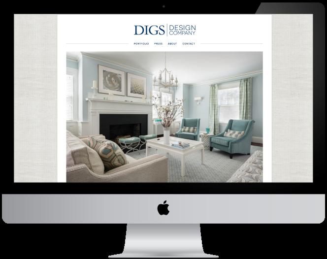 Digs Design Company Website