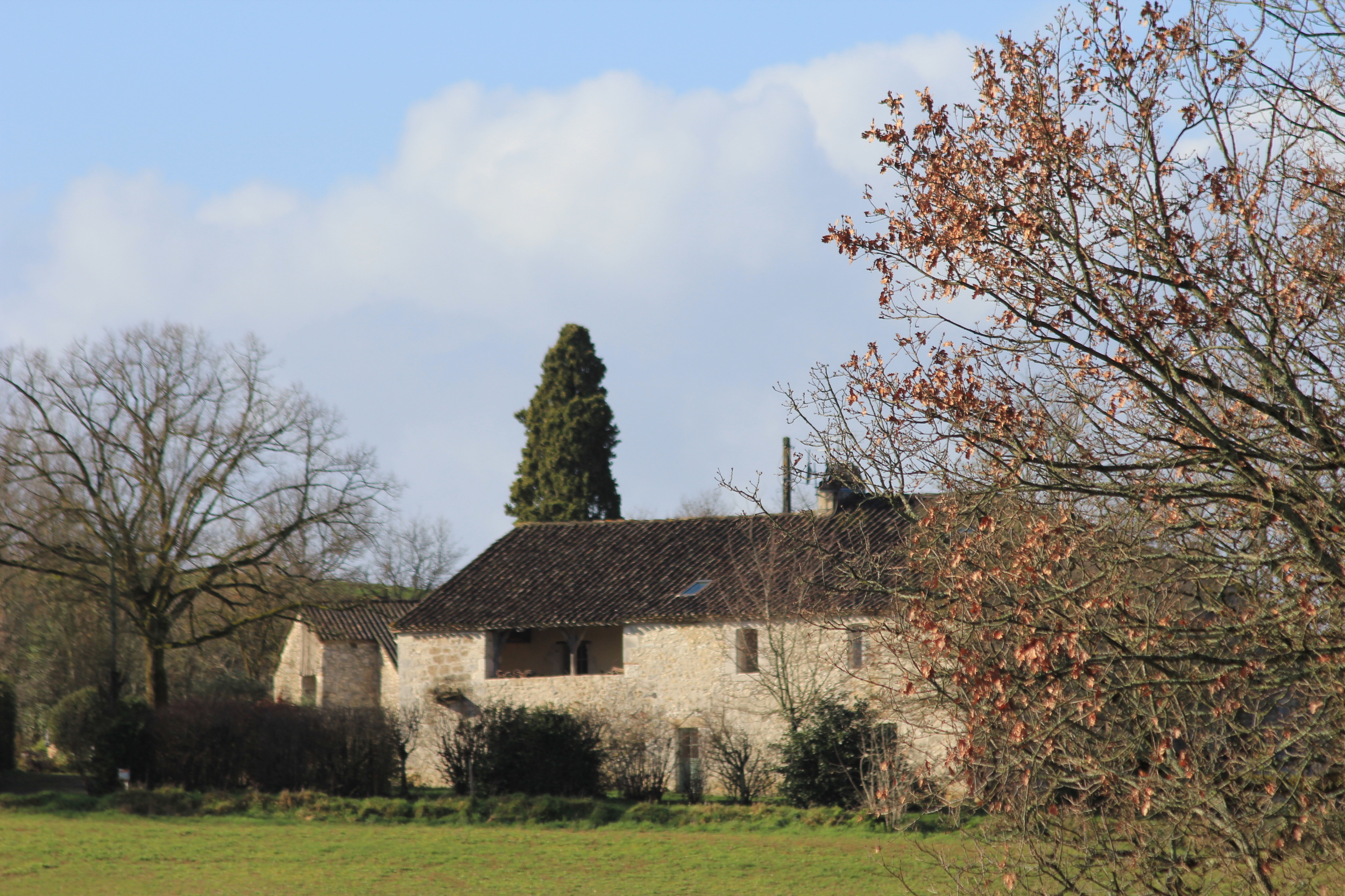 The French Farmhouse, East View. February 2016.