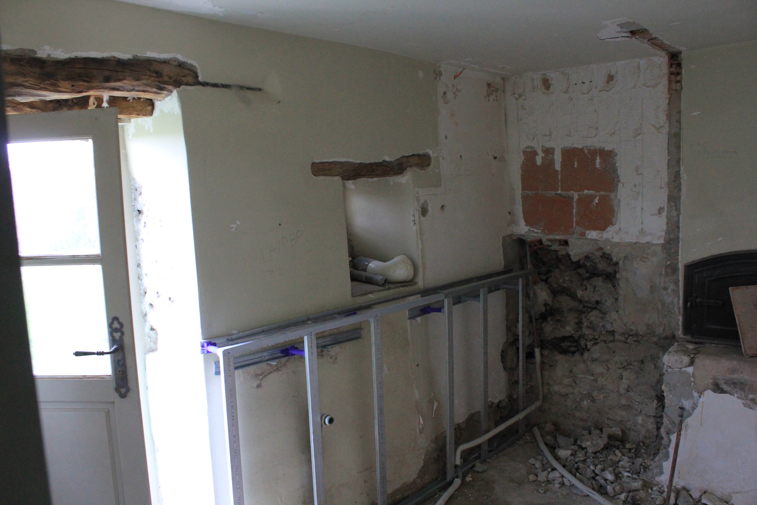 Lauzerte bathroom, wait 'till it's finished!