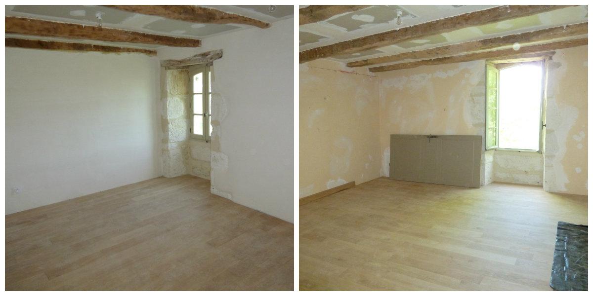 The new oak floors. Left: Tournon.Right: Montaigu.
