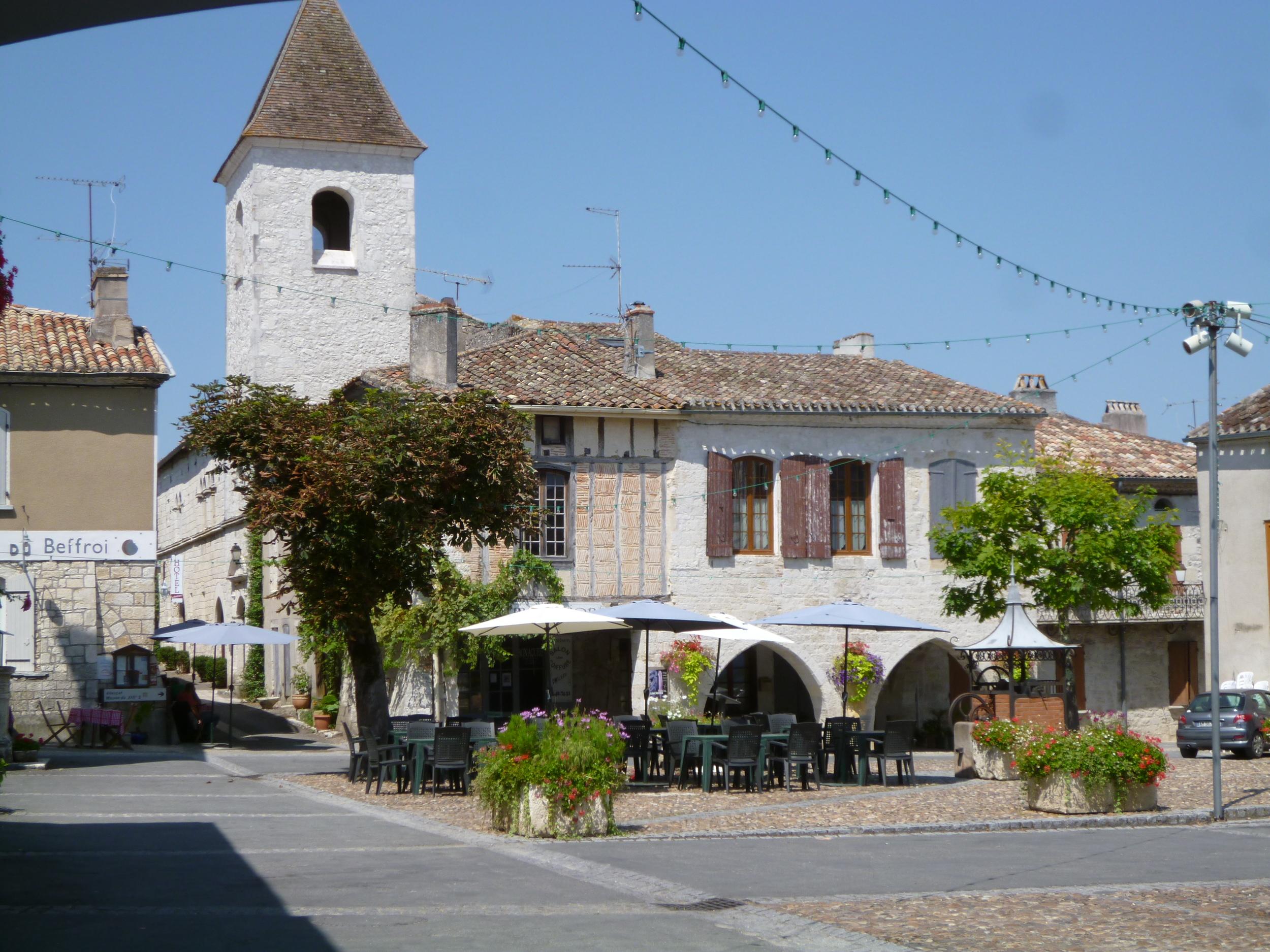 The village square, Tournon d'Agenais.