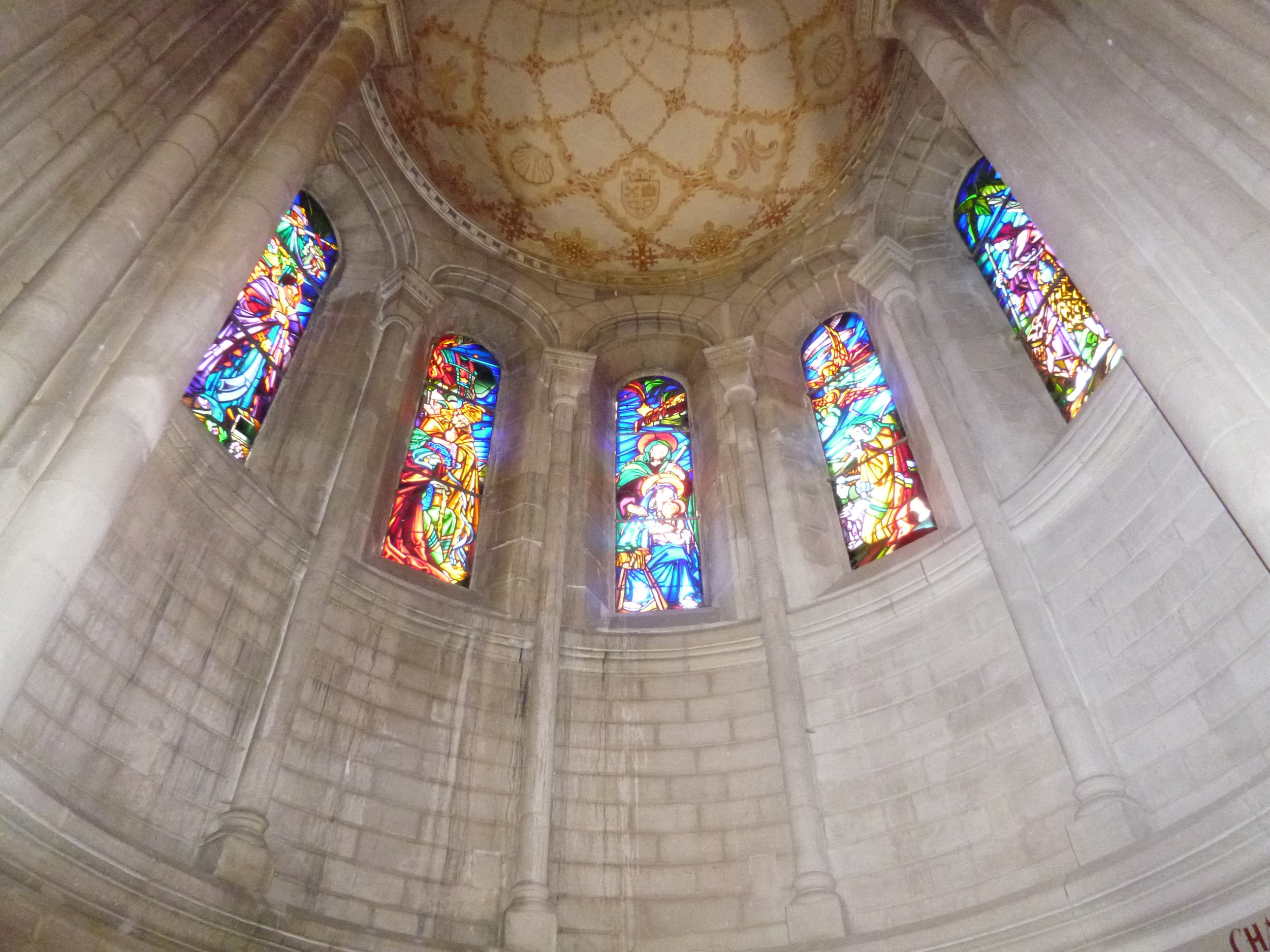 Stain glass windows, Basilica Penne d'Agenais.