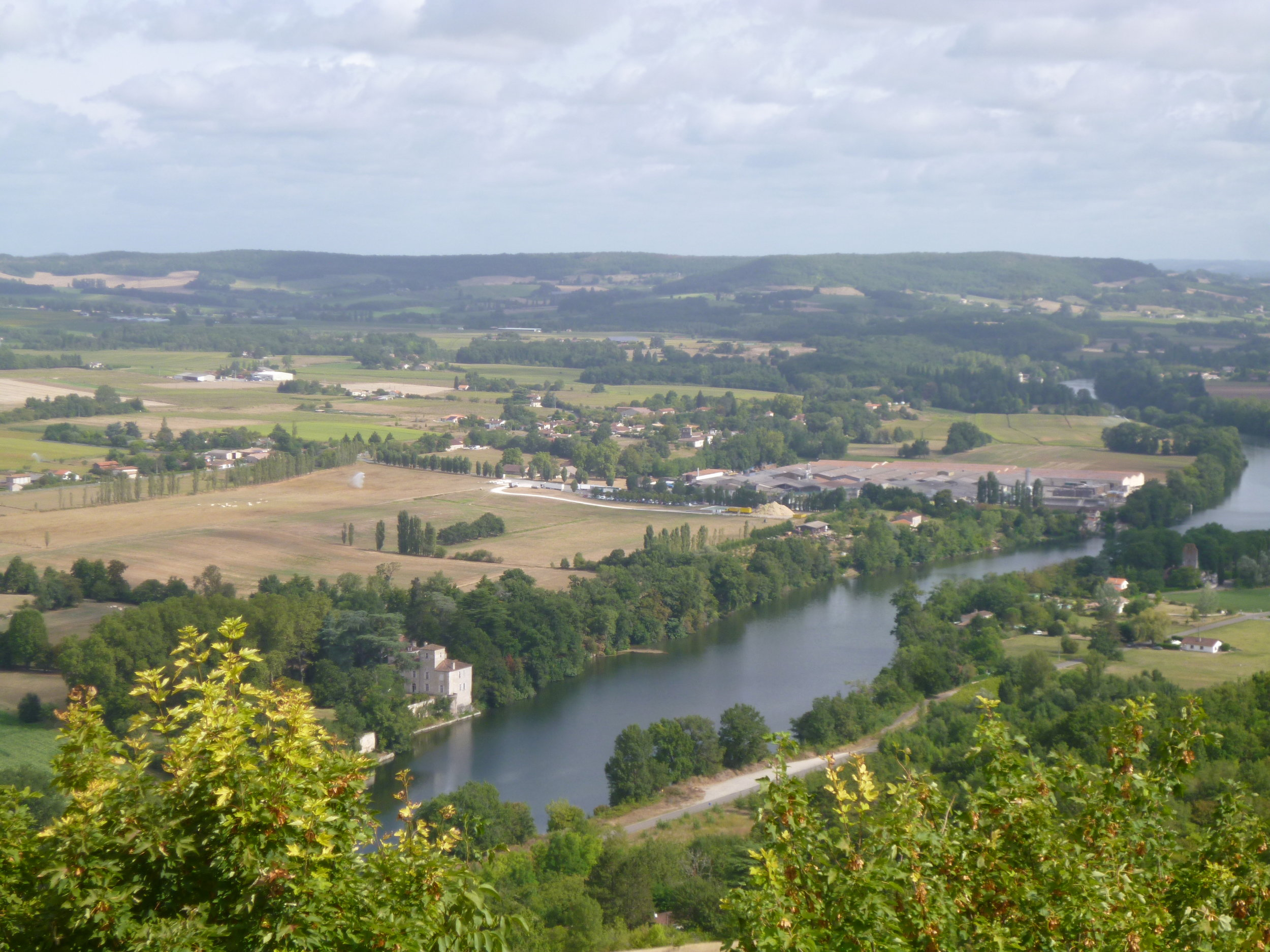 """I took this picture from the """"look out"""" at Penne d' Agenais. The Lot river."""